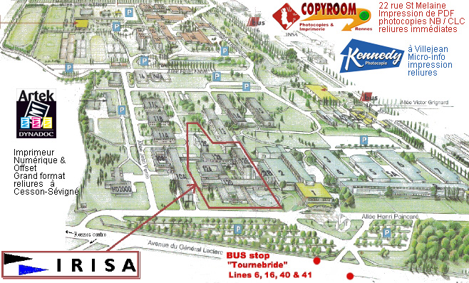Plan du Campus IRISA de Rennes 1